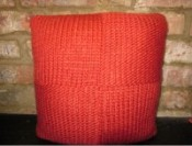 Squared Knitted Cushion
